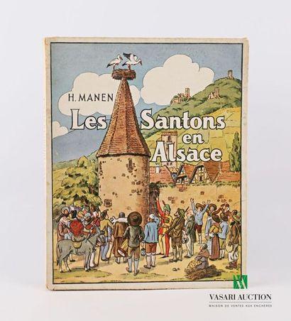 [REGIONALISME - ALSACE] MANEN H. - Les santons...