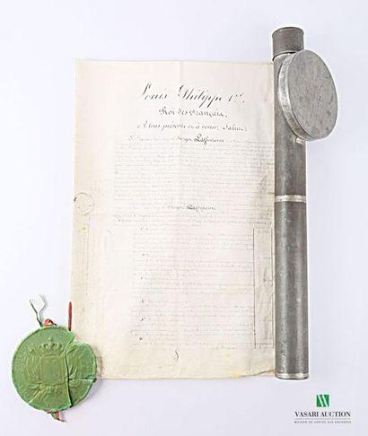 [LOUIS PHILIPPE - BARON SARGET] Lettre patente...