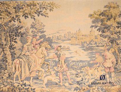Jacquard représentant une scène de chasse...
