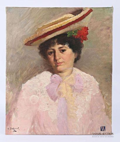 DELPECH Hermann (1865-?) Portrait d'élégante...