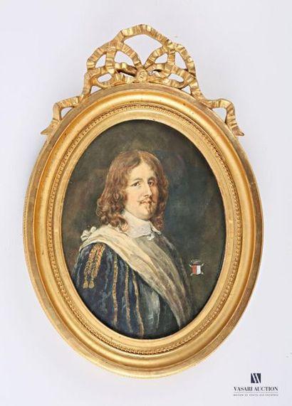 DE PERREY L (XIXème siècle) Portrait de Josias...