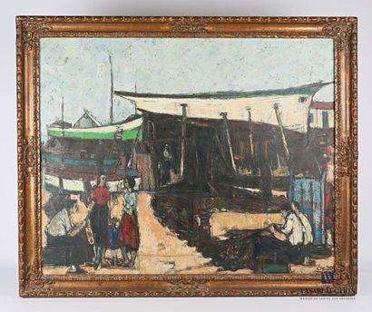 GRUBER Francis (1912-1948) Activité portuaire...