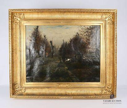 CHABRY Léonce (1832-1882) Vue de sous bois...