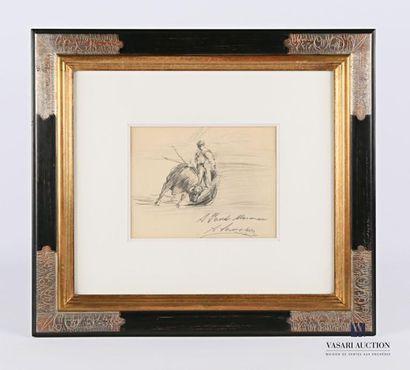 SANCHEZ Antonio (XXème siècle) Crayon noir...