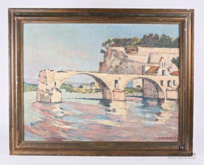 André WILDER (1871-1965) Le Pont Saint Benezet...
