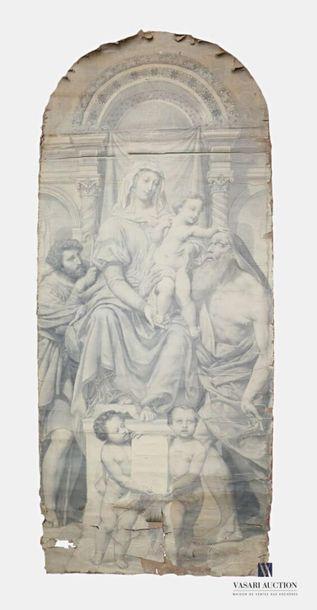 JOLLIVET Pierre-Jules (1794-1871) La Vierge...