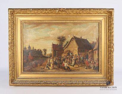 École hollandaise du XIXème siècle Scène...