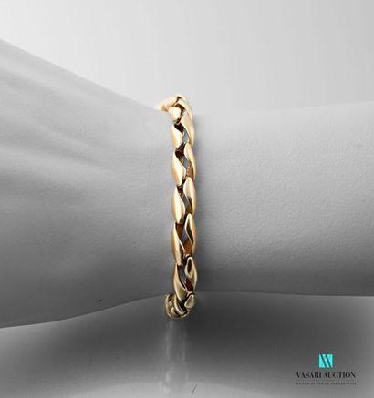 Bracelet en or jaune 750 millièmes maille...