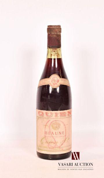1 bouteilleBEAUNE mise Quien nég.1968...