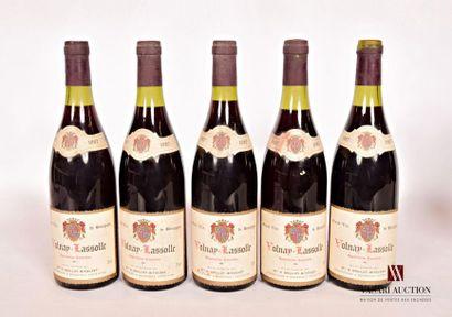 5 bouteillesVOLNAY LASSOLLE mise Grillot-Bitouzet...