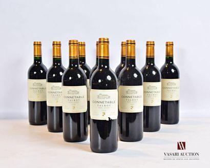 10 bouteillesCONNÉTABLE DE TALBOTSt Julien1999...