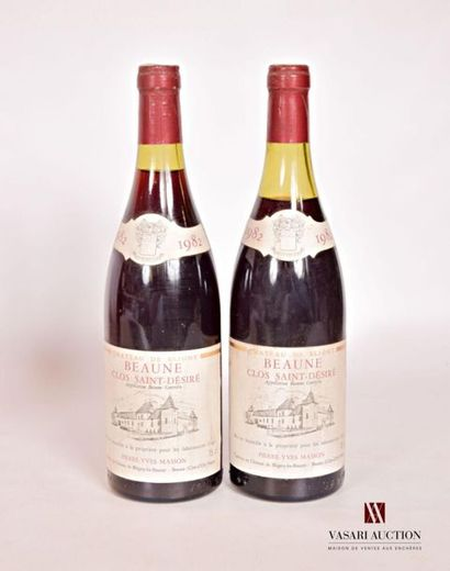 2 bouteillesBEAUNE Clos St Désiré mise Château...