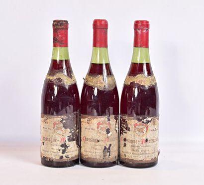 3 bouteillesCHASSAGNE MONTRACHET mise Michel...