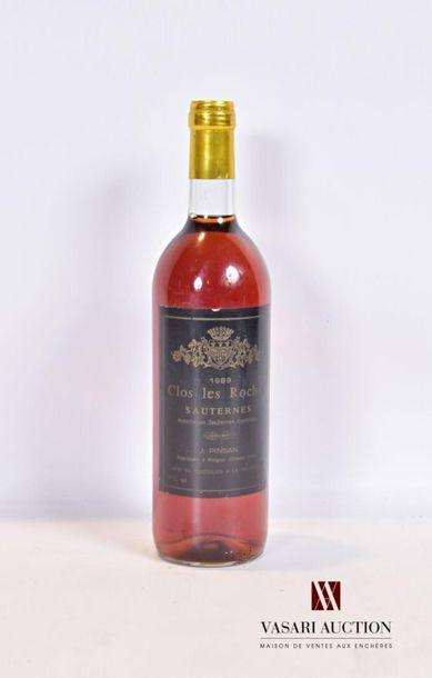 1 bouteilleCLOS LES ROCHESSauternes1989...