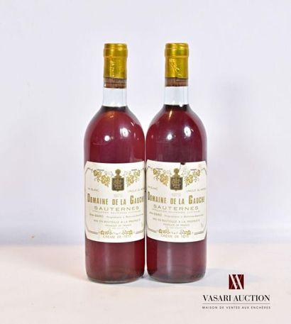 2 bouteillesDOMAINE DE LA GAUCHESauternes1979...