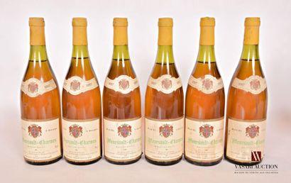 6 bouteillesMEURSAULT CHARMES mise Grillot...