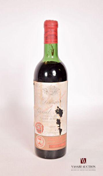 1 bouteilleDOMAINE DU GRAND FAURIESt Emilion...