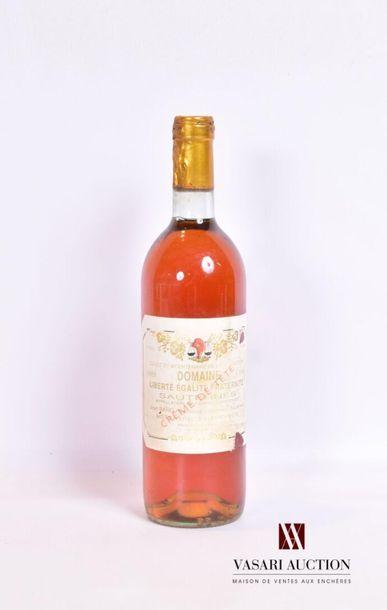 1 bouteilleDOMAINE DE LA GAUCHESauternes1988...