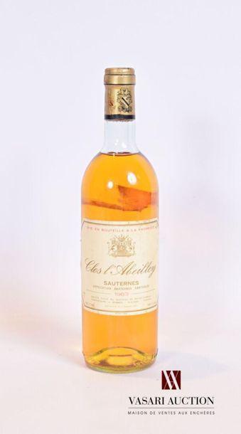 1 bouteilleCLOS L'ABEILLEYSauternes1983...