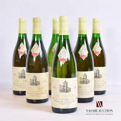 6 bouteillesSAINT VÉRAN mise nég.1992...
