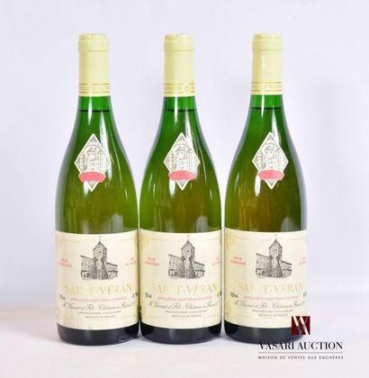 3 bouteillesSAINT VÉRAN mise nég.1992...