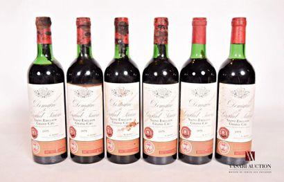 6 bouteillesDOMAINE DU GRAND FAURIESt Emilion...
