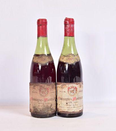 2 bouteillesCHASSAGNE MONTRACHET mise Michel...