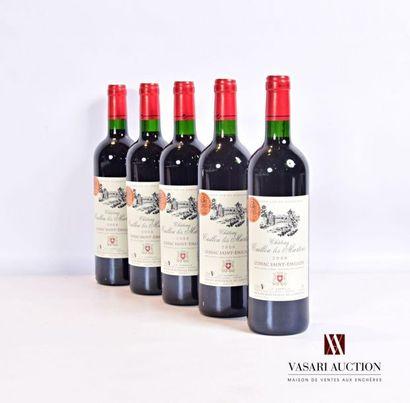 5 bouteillesChâteau CAILLOU LES MARTINSLussac...