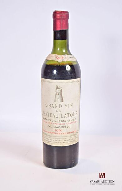 1 bouteilleChâteau LATOURPauillac 1er GCC1950...