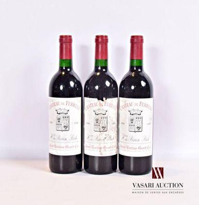 3 bouteillesChâteau DE FERRANDSt Emilion...