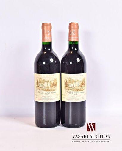 2 bouteillesChâteau SAINT PIERRESt Julien...