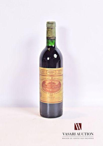 1 bouteilleChâteau BATAILLEYPauillac GCC1982...