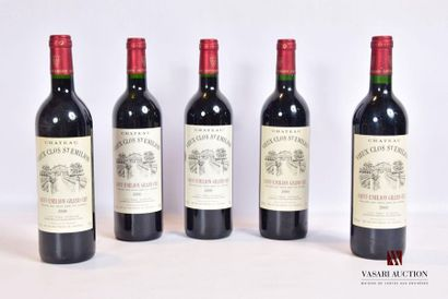 5 bouteillesChâteau VIEUX CLOS ST EMILIONSt...