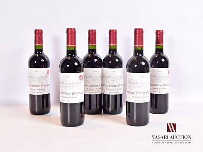 6 bouteillesChâteau BELLEVUE ST GEORGESSt...