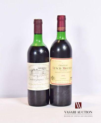 Lot de 2 bouteilles comprenant : 1 bouteilleChâteau...