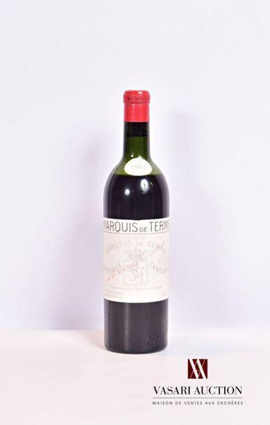 1 bouteille Château MARQUIS DE TERME...