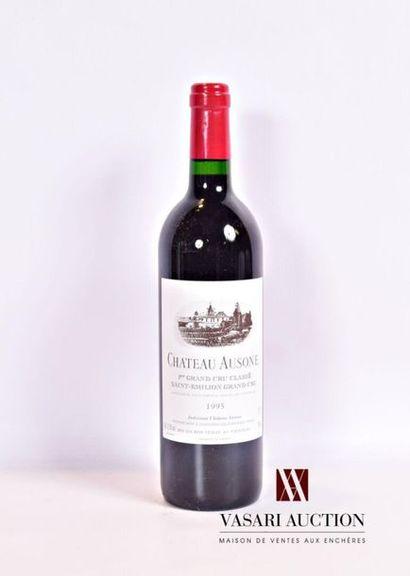 1 bouteilleChâteau AUSONESt Emilion 1er GCC1995 Présentation et niveau, impeccables....