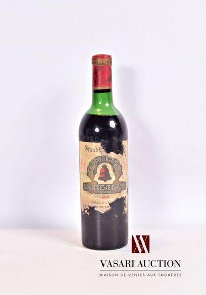 1 bouteilleChâteau L'ANGÉLUSSt Emilion...