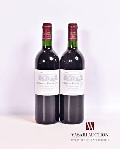 2 bouteillesChâteau FOMBRAUGESt Emilion...