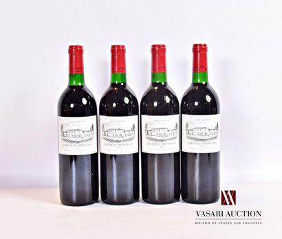 4 bouteillesChâteau MÉRISSACSt Emilion1993...