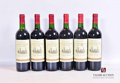 6 bouteillesChâteau LA TONNELLE DU COSSt...