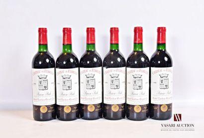 6 bouteillesChâteau DE FERRANDSt Emilion...