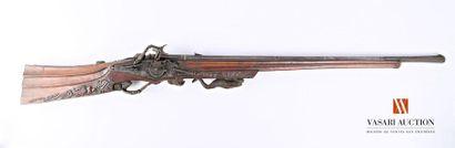 Arquebuse de chasse, fort canon lisse de...