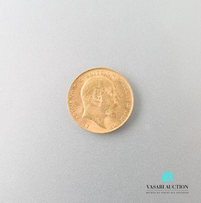 Souverain en or, Edward VII, 1910  Poids...
