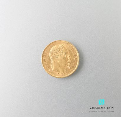 Pièce en or, 20 francs, Napoléon III, 1868...