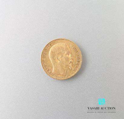Pièce en or, 20 francs, Napoléon III, 1853...