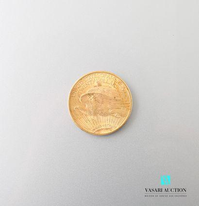 Pièce en or, 20 dollars, 1924  Poids : 33,44...
