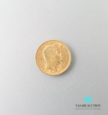 Pièce en or, 20 francs, Napoléon III, 1864...