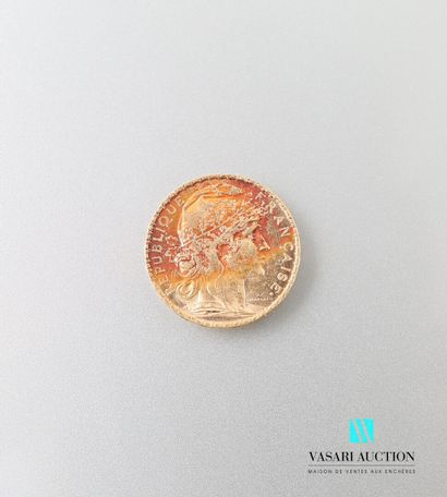 Pièce en or, 20 francs, République Française,...