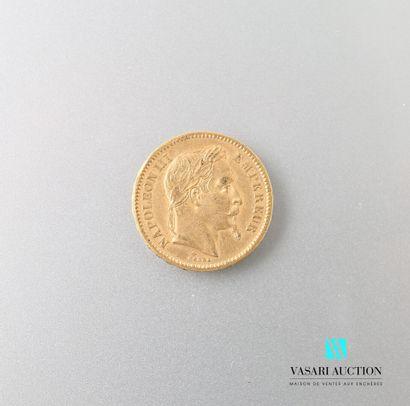 Pièce en or, 20 francs, Napoléon III, 1862...